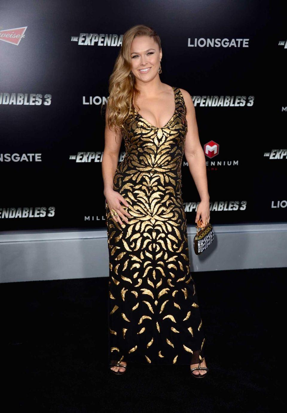 UFC women's bantamweight champion Ronda Rousey arrives at