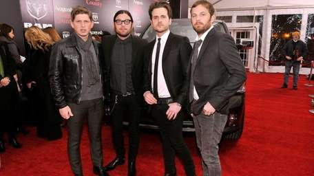 From left, Matthew Followill, Nathan Folllowill, Jared Followill