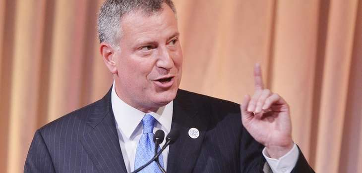 Mayor Bill de Blasio on June 12, 2014.