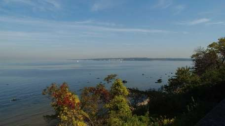 View of Hempstead Harbor and Long Island Sound.