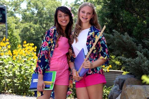 Two campers chose the same pretty floral fabric.