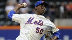 Mets starting pitcher Rafael Montero delivers against the