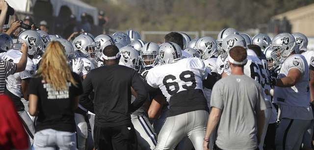 The Oakland Raiders and the Dallas Cowboys players