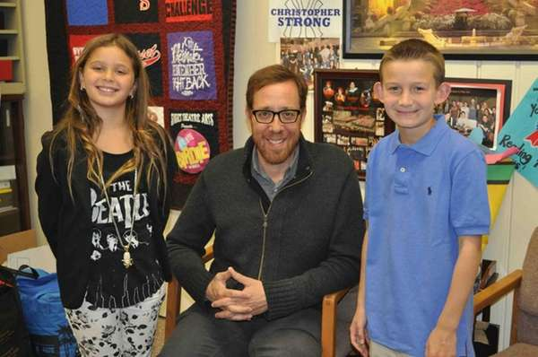 Director Rob Minkoff with Kidsday reporters Rachel Meiselas