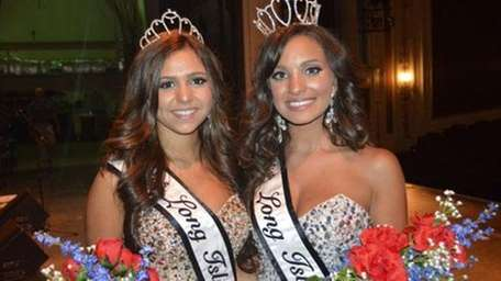 Geena Cardalena, 17, of Floral Park, left, and