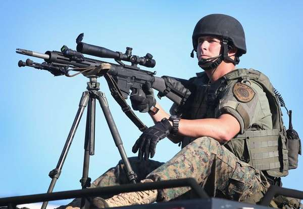 A St. Louis County police sniper on Wednesday,