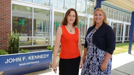 (L-R) Wendy O'Neill meets teacher Erin Grieco at