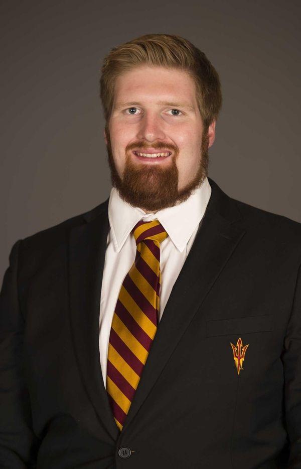 "Arizona State offensive lineman Edward ""Chip"" Sarafin has"