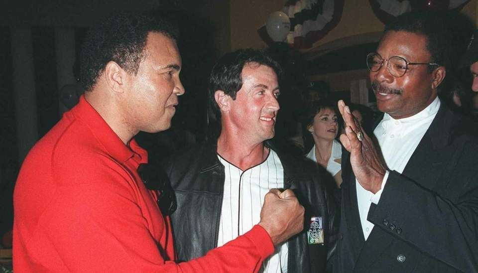 Boxing champion Muhammad Ali joins actors Sylvester Stallone