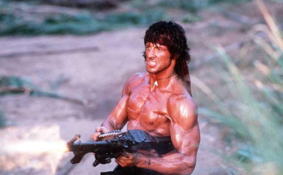 "Sylvester Stallone starred as Rambo in ""Rambo: First"