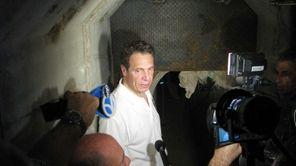 New York Gov. Andrew Cuomo talks to the
