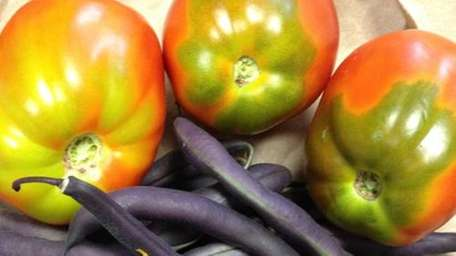 Farm-fresh organic vegetables are available at Farmingdale State