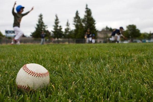 A youth baseball game.