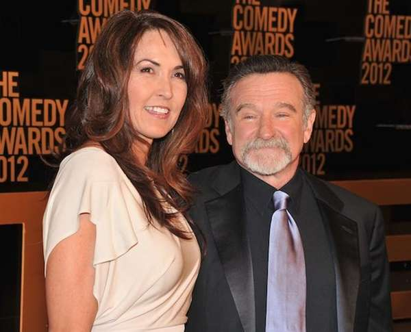 Robin Williams and his wife, Susan Schneider, attend