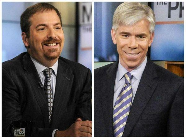 Left, NBC political director Chuck Todd on
