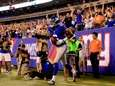Wide receiver Corey Washington of the Giants celebrates
