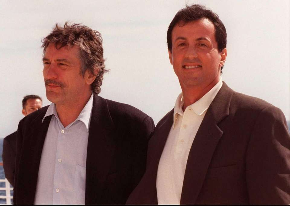 Sylvester Stallone with Robert De Niro at their