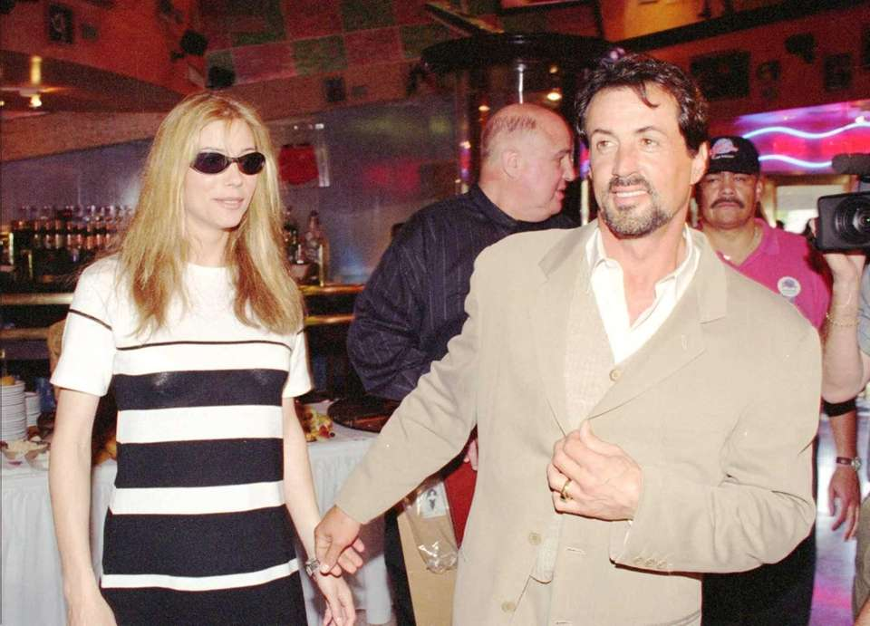 Sylvester Stallone and then-girlfriend Jennifer Flavin at Planet