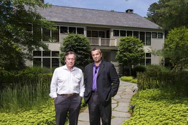 Joe McKinsey, The Dunes founder, left, and Nicholas