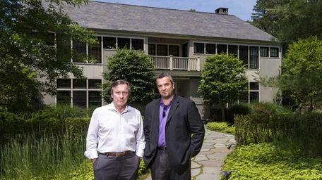 Joe McKinsey, The Dunes founder, left, and Nicholas