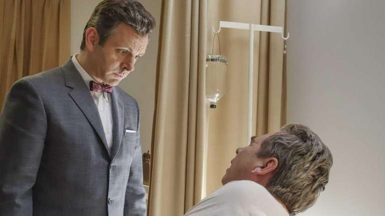 Michael Sheen, left, as Dr. William Masters and