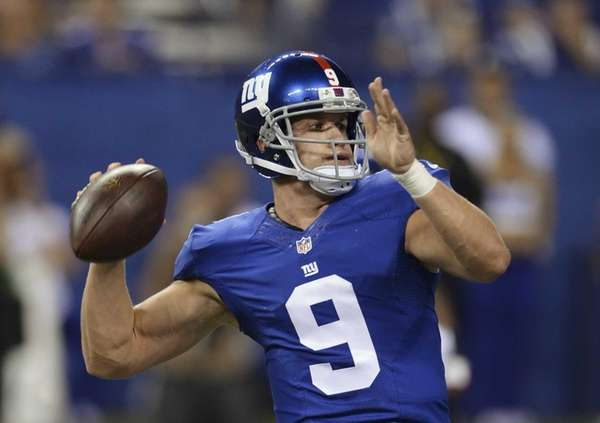 Giants' Ryan Nassib throws during the second half