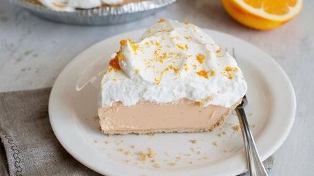 This orange-vanilla ice cream pie is a fun