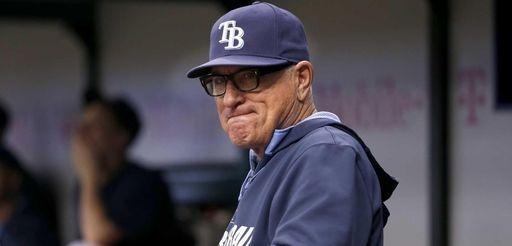 Tampa Bay Rays manager Joe Maddon looks on