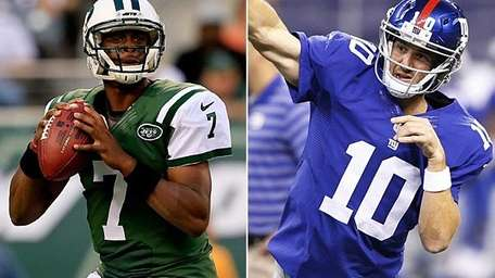 The Jets' Geno Smith and the Giants' Eli