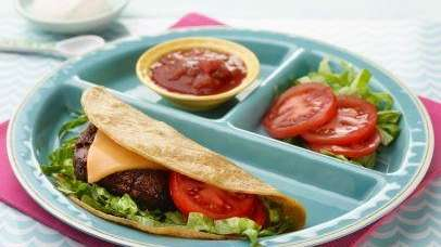 The Taco Cheeseburger recipe can be found on