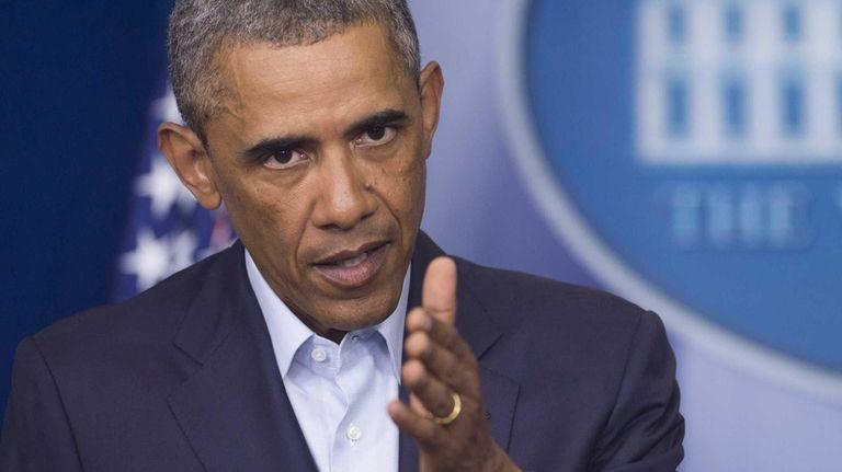 U.S. President Barack Obama speaks about the US