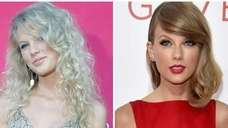 Left: Singer Taylor Swift arrives at the Academy