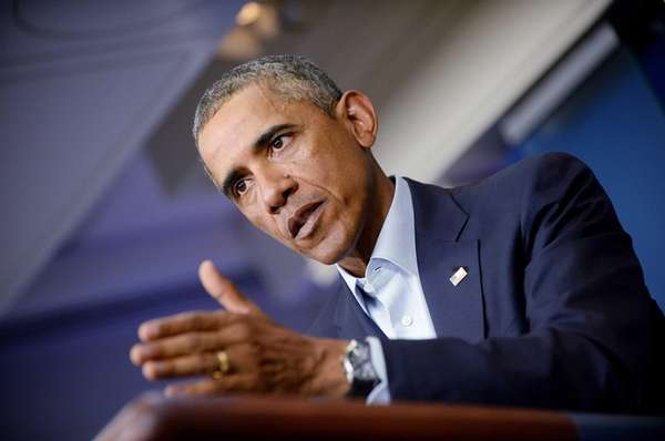 U.S. President Barack Obama delivers a statement to
