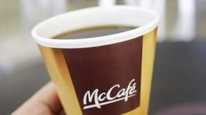 McCafe coffee served in Feb. 14, 2013, at