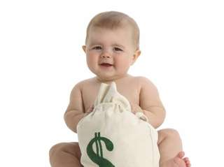 The cost of raising a child born in