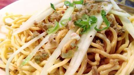 Cold sesame noodles are one of the starters