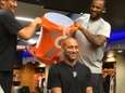 Derek Jeter has water dumped on his head