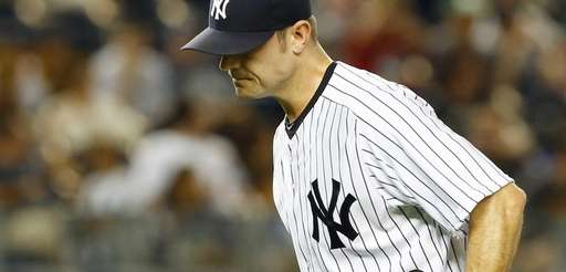 David Robertson of the Yankees runs off the