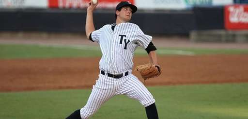 Tampa Yankees pitcher Brady Lail in action.