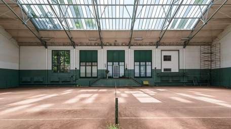 The tennis house is the only remaining structure