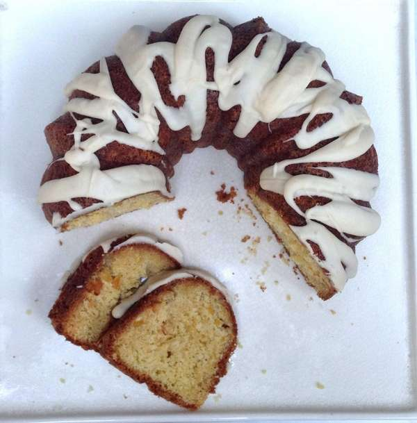 Fresh corn gives this bundt cake extra moisture