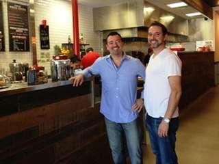 Dimitri Londos, left, and Nick Marinos, are co-owners