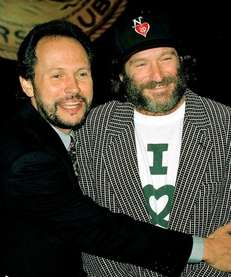 Billy Crystal, left, with Robin Williams prior to