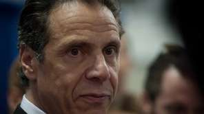 Gov. Andrew M. Cuomo speaks to the media