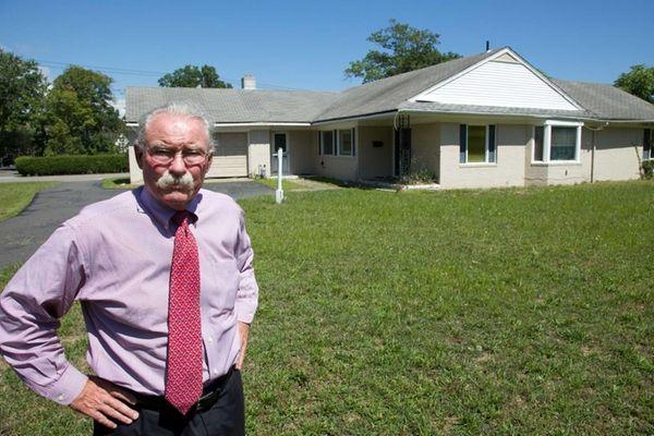Babylon Village Mayor Ralph A. Scordino stands in