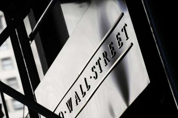 A sign for Wall Street outside the New