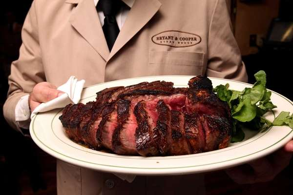 Popular at Bryant & Cooper is the porterhouse.