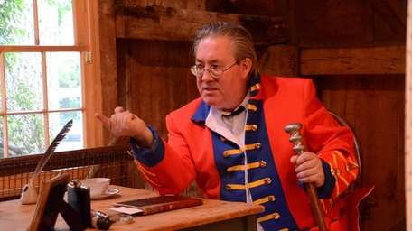Inside the Stony Brook Grist Mill, actor Philip