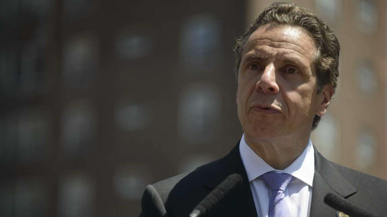 Cuomo speaks during a news conference in Manhattan