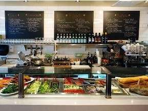 Counter at the new Spaghettini PIzza Trattoria in